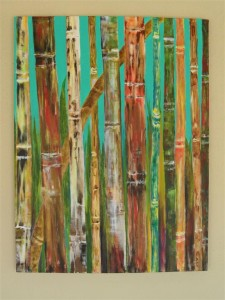 "Bamboo 31"" x 24"", Acrylic on canvas"