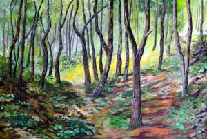 "The Glade 24"" x 16"" Acrylic on Canvas"