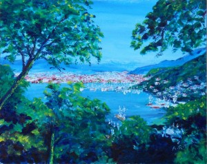 "Fethiye Bay 2013 10"" x 8"", Acrylic on card"