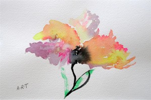 "Poppy2 Watercolour 10"" x 8"""