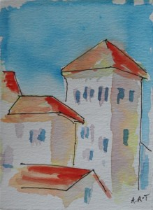 "Tuscan impression 8"" x 6"", watercolour"