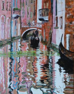 "Venice Canal 10"" x 8"" Acrylic on card"