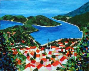 "Kas Landscape 10"" x 8""  Acrylic on card"