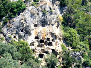 Lycian Rock Tombs in Tomb Bay