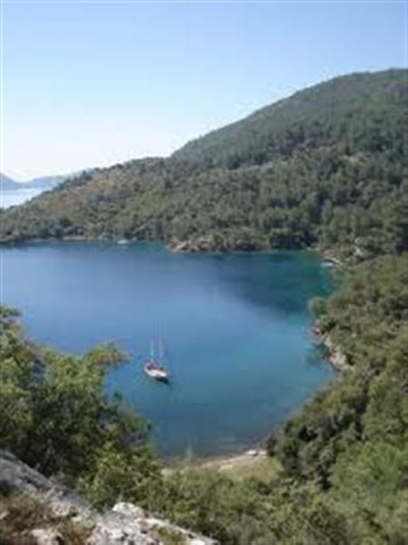 Sailing in Tomb Bay  Fethiye