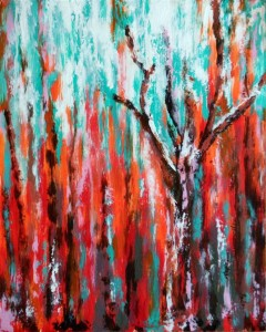 "After the Fall 9"" x 7"" Acrylic on card"