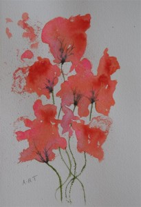 "Poppies 12"" x 8"" Watercolour on NOT paper"