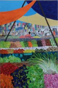 Spoilt for Choice 60cms x 40cms Acrylic on canvas