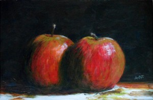 "Autumn harvest 9"" x 6"" Acrylic on mount board"