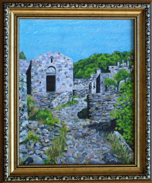 "Kaya Chapel 8"" x 6"" Framed Acrylic on board"