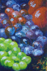"""Still life from memory 9"""" x 6"""" Acrylic on mount board"""